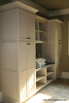 Nxt project!! tall storage cabinets for bath and laundry