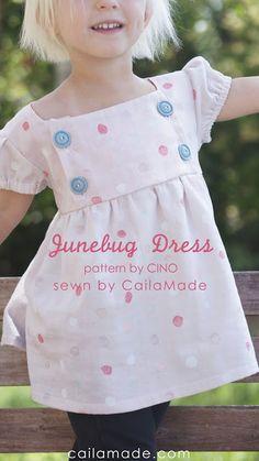 Junebug Dress in Nani Iro Double Gauze // sewn by CailaMade // pattern by CINO