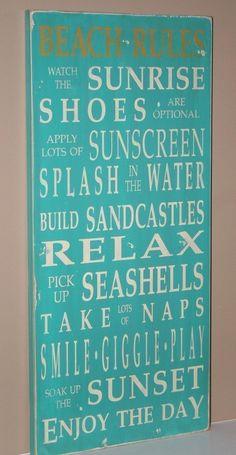 Beach House Rules @Gina Stinson :)