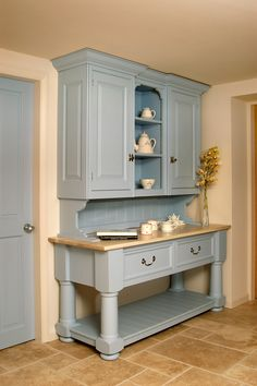 Farrow and Ball Parma Grey. Painted the kitchen walls with this paint, beautiful! color, ball parma, painted welsh dresser, farrow and ball kitchen, kitchen walls