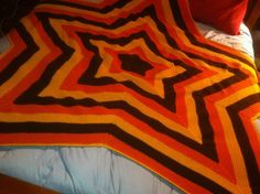 5 point star crocheted afghan by cturtle22 on etsy...wow!