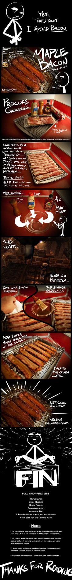 Maple Bacon recipe…