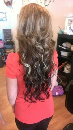 Deep Burgundy Hair Color With Blonde Highlights Ombre with highlights ...
