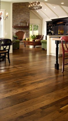 Walnut floors are the perfect balance between light and dark.