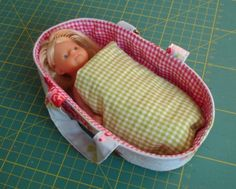 doll basinet, with pattern and tutorial