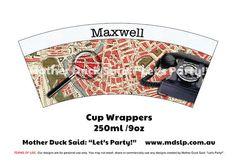 Secret Agent Spy Party Cup Wrapper