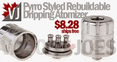 Pyrro Styled 3 Post (Huge Drilled) Rebuildable Dripping Atomizer