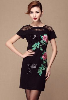 Lace Embroidery Dress <3