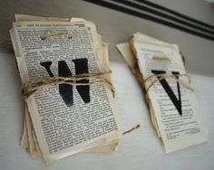 DIY Vintage Book Page Banners