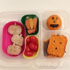 Pumpkin Halloween Lunch Ideas for Kids School Lunches StuffedSuitcase.com