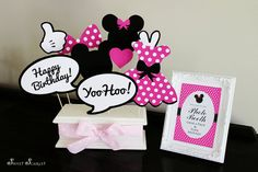 MINNIE Mouse Photo Booth Props in Hot Pink  by SweetScarletDesigns, $5.00