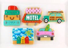 Vintage vacation cookies