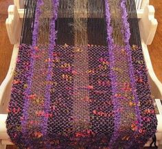 Beautiful scarf made on a Cricket loom..
