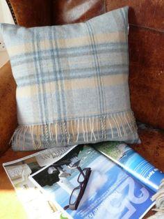 Merino Wool Plaid Cushion