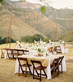 pretty outdoor mountain wedding
