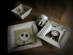 Jack and Sally dishes.