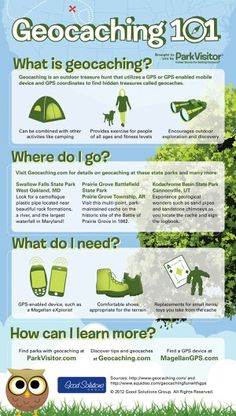 Geocaching- the kids will love this real live treasure hunt!