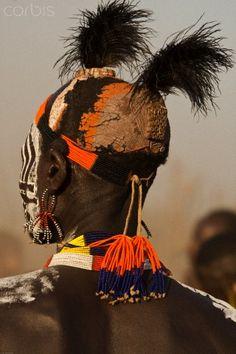 Africa | Karo tribesman.  Omo River Valley, Ethiopia | © Mary Ann McDonald/Corbis