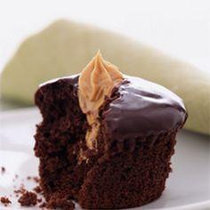 chocolate cupcakes, peanut butter