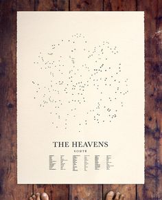 THE HEAVENS North by beauchamping on Etsy, $95.00