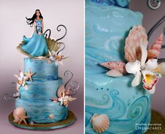 Ocean Cake. I don't care for the girl on the top but the rest of the cake is nice.