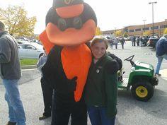 SU Tailgate with the Oriole bird!