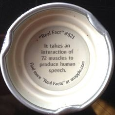 Snapple fact about speech therapy! #slpeeps