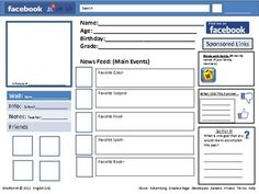 This is a little Facebook themed first day of school activity.