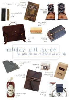holiday gift guide for the gentlemen in your life | LindyJacoby.com