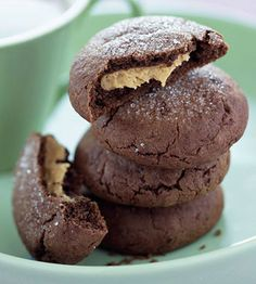 chocolate and peanut butter cookies.