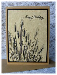 """By Pineapple Soup Designs. Uses Hero Arts """"Silhouette Grass"""" stamp."""