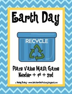 Earth Day Place Value Math Game freebie