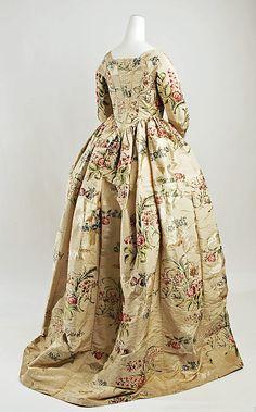 ~Dress  Date: ca. 1780 Culture: British Medium: silk~