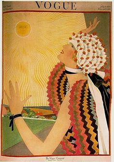Vogue Magazine Cover 1922. Art Deco