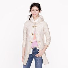 J Crew Collection linen slicker   How perfect is this?