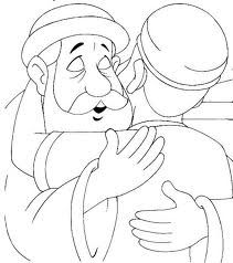 Prodigal son on pinterest prodigal son pigs and pig for Prodigal son coloring page for preschoolers