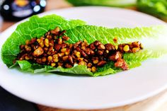 Vegetarian Lettuce Wraps, LC, LF, VN, GF (substitute edamame instead of corn for lower carb)