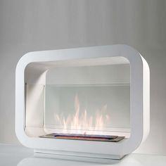 eu.Fab.com   Standing Fireplace L White