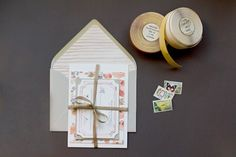 DIY Watercolor envelope liners and invite backers
