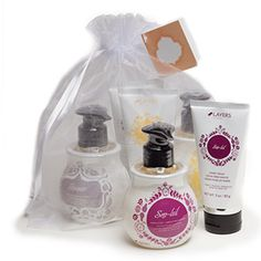 Pamper your hands with amazing fall fragrances! Each bundle contains a Hand Soap and a Hand Cream in three exclusive scents: Autumn Blaze Maple, Shimmer, and Sno-Leil. All six products are beautifully bundled in an organza bag.