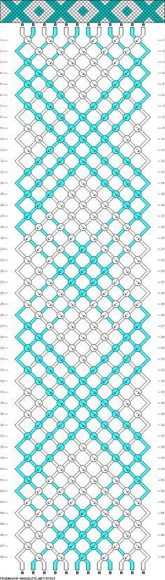 Схемы фенечек косого плетения из 12 нитей