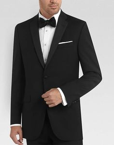 BLACK by Vera Wang Black Slim Fit Tuxedo. just gotta switch out the bow tie for a black tie and you got a tux suit =]