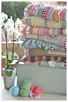 crochet afghan, stripe crochet, crochet project