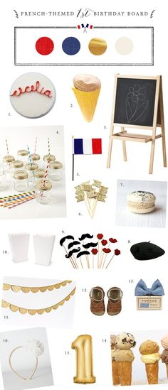 French birthday party ideas | 100 Layer Cakelet