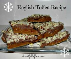 Super simple English Toffee #recipe with just 4 ingredients!  It tastes just like a Heath bar and is perfect for holiday gift giving.