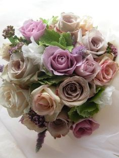 The Flower Magician: Wedding Bouquet of Vintage Roses