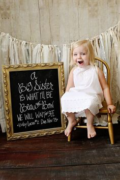 Big sister announcement! Photo credit: Jonas and Treat