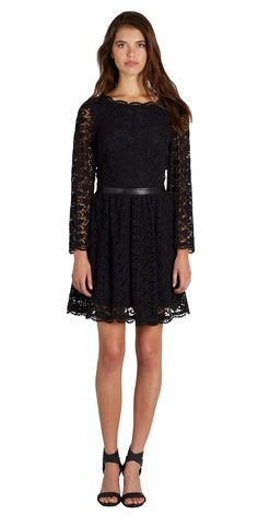 A beautiful LBD in crochet lace, our Baronessa Dress elevates your basic black dress for any holiday party.