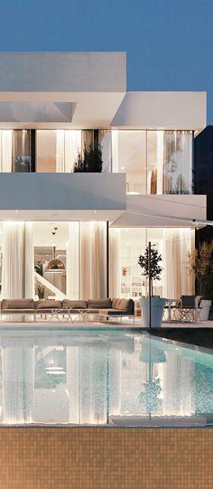 modern white home
