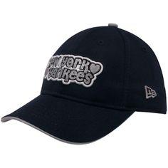 New Era New York Yankees Youth Girls Navy Blue Team Glitter Adjustable Hat